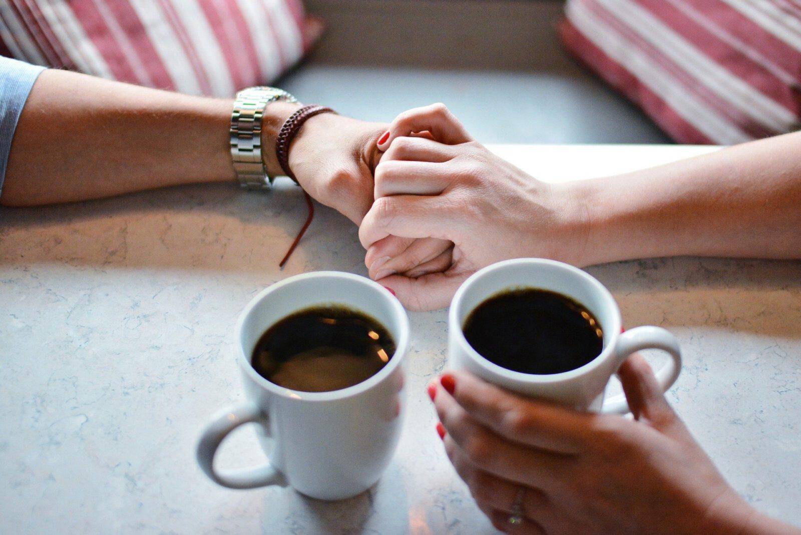 Kaffeefleck-Willkommen